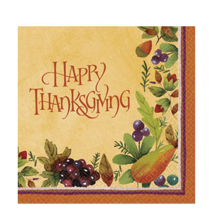 Thanksgiving Medley Dinner Napkins- 16ct