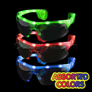 Fun Central X713 LED Light Up Sporty Sunglasses - Assorted