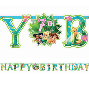 Disney Tinkerbell Add-An-Age Letter Banner- 10ft