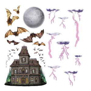 Haunted House Night Sky Wall Props