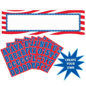 Personalized Patriotic Banner Kit