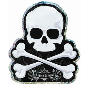 Skull and Bones Large Invitation- 8ct