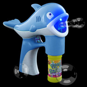 Fun Central R381 LED Light Up Bubble Gun - Dolphin - Blue