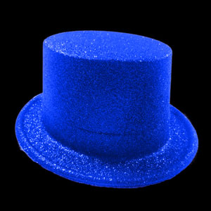 Glitter Top Hat - Blue