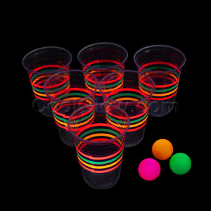 Blacklight Reactive Beer Pong Party Pack