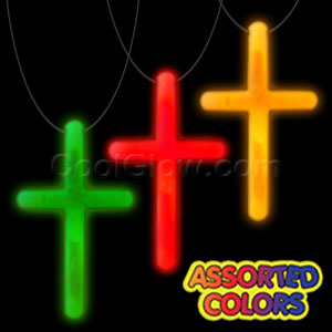 Glow Cross Necklace - Assorted
