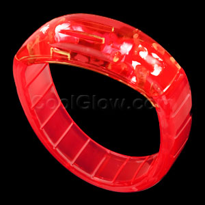 LED Bangle Bracelets - Red