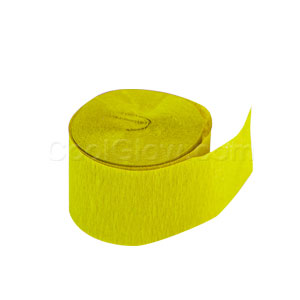 Yellow Sunshine Crepe Paper- 81ft