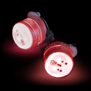 LED Clip On Blinky Light - Red