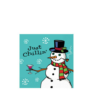 Just Chillin' Holiday Fun Cocktail Napkins- 16ct