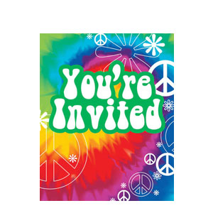 Tie Dye Fun Invitations- 8ct