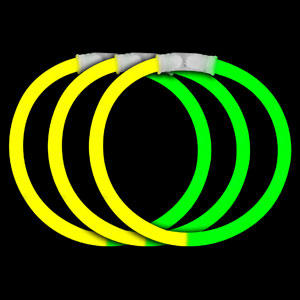 8 Inch Glow Bracelets - Yellow-Green