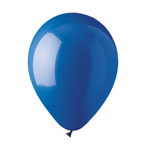 12 Inch Blue Latex Balloons- 15ct