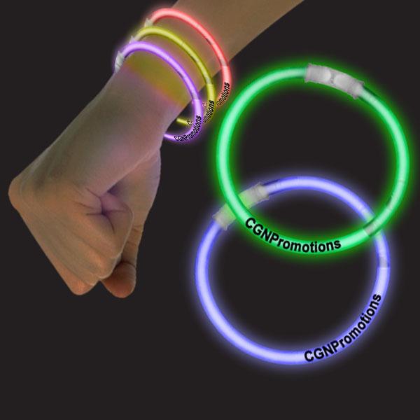 8 Inch Glow Bracelets - Assorted