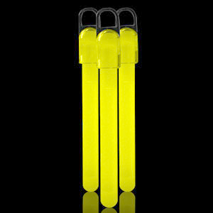 Fun Central W6 4 Inch Standard Glow in the Dark Sticks - Yellow
