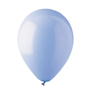 12 Inch Light Blue Latex Balloons- 15ct