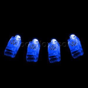 LED Finger Lights - Blue 36ct