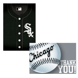 Chicago White Sox Invitations and Thank You Cards Set- 16ct