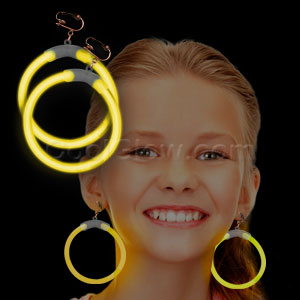Glow Earrings - Yellow