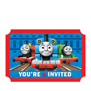 Thomas and Friends Invitations- 8ct