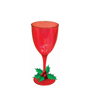 Wine Glass with Embellishments- 14oz.