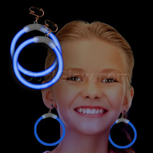 Glow Earrings - Blue