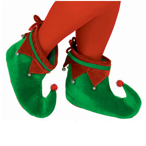 Red & Green Elf Shoes