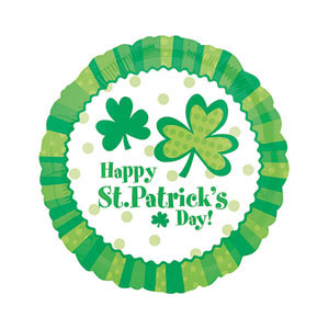 Foil Shamrocks Happy St. Patrick's Day Balloon