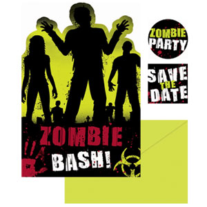 Beware Zombies Invitation Pack- 20ct