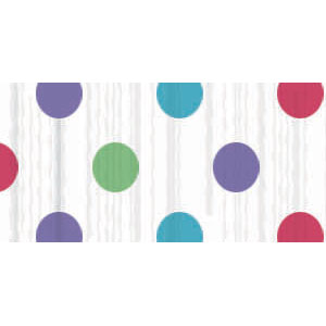 Multi Dots Crepe Paper - 81ft