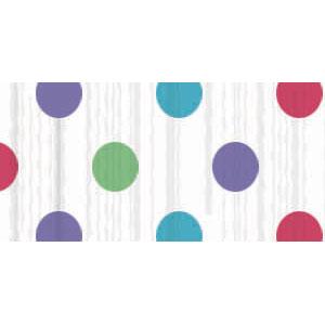Multi Dots Crepe Paper - 81ft