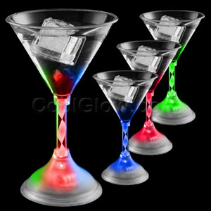 LED Martini Glass - 10 oz.