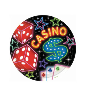 Casino Party 7 Inch Plates- 8ct