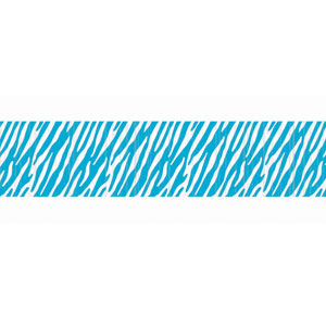 Blue Zebra Stripe Crepe Paper - 81ft