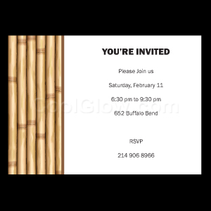 Bamboo Wall - Custom Invitations