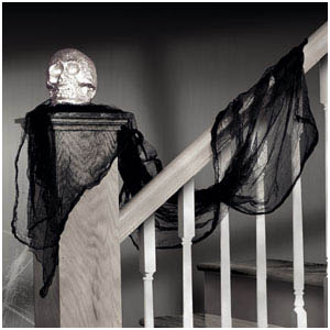 Black Cheesecloth Drape- 15ft
