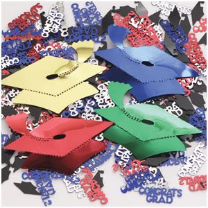 Oversized Graduation Caps Confetti