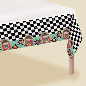 Sock Hop Paper Tablecover- 102in