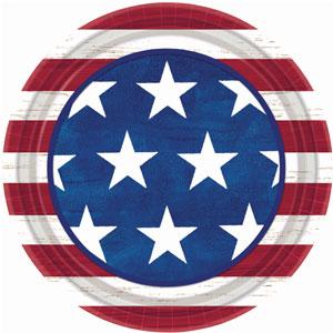 Americana 9 Inch Plates - 50ct
