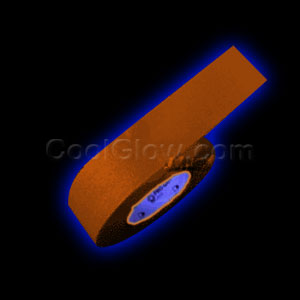 2 Inch 50 Yard Blacklight Reactive Gaffer Tape - Orange