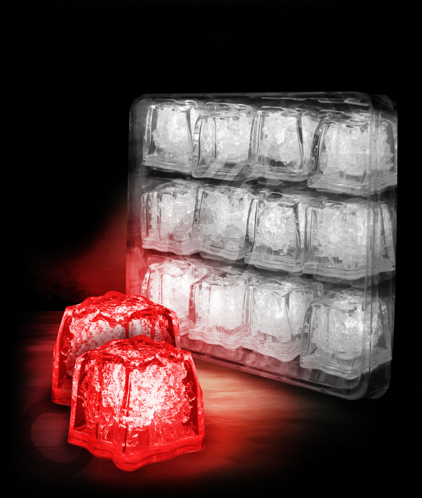 LED Litecubes Brand Ice Cubes - Red