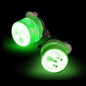LED Clip On Blinky Light - Green