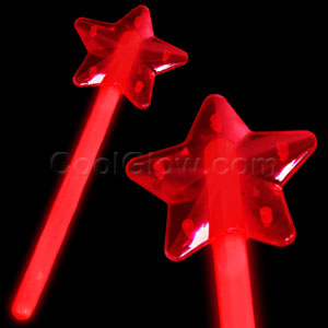 Glow Star Wand - Red