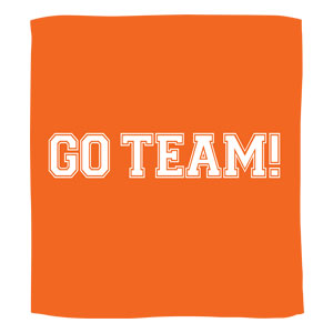 Go Team Towel - Orange