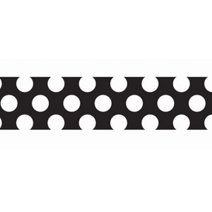 Black White Polka-Dot Crepe Paper - 81ft