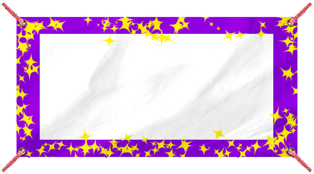 Purple and Yellow Glitz - Custom Banner