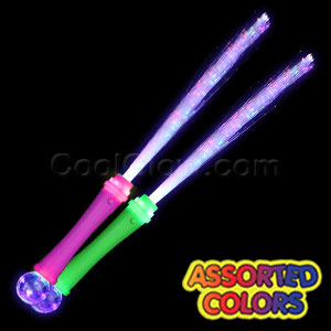 Fun Central Z529 LED Light Up Strobing Fiber Optic Wand