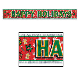 Happy Holidays Fringe Banner - 5ft