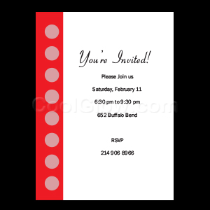 Red Polka Dots - Custom Invitations