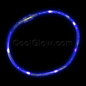 LED Light Chaser Necklace - Blue